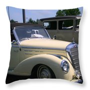 At The Car Show Throw Pillow