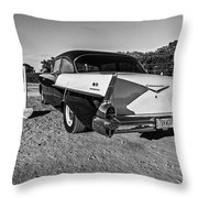 At The Drive-in Throw Pillow