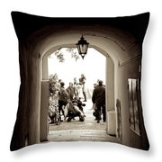 At The End Of The Tunnel Throw Pillow