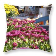 At The Farm Stand Throw Pillow