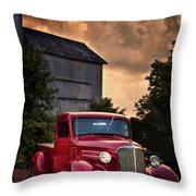 At The Grain Elevator Throw Pillow