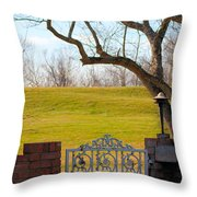 At The Levee Throw Pillow