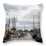 At The Old Harbor Throw Pillow
