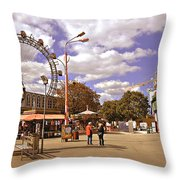 At The Prater - Vienna Throw Pillow