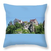At The Rhine Falls Throw Pillow