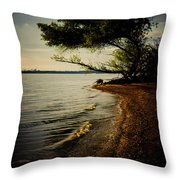 At The River Bend Throw Pillow