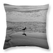 At Twilight In Black And White Throw Pillow