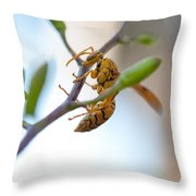 At Work. Busy Bee Throw Pillow