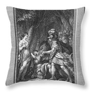 Atalanta And Meleager Throw Pillow