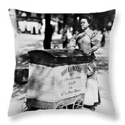 Atget: Delivering Bread Throw Pillow