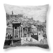 Athens: Marketplace Throw Pillow