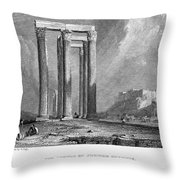 Athens: Olympian Zeus Throw Pillow