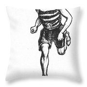 Athletics: Runner, C1900 Throw Pillow