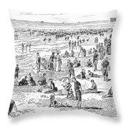 Atlantic City, 1890 Throw Pillow