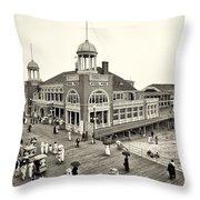 Atlantic City Steel Pier 1910 Throw Pillow