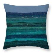 Atlantic Ocean Afternoon Throw Pillow
