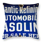 Atlantic Refining Co Sign Throw Pillow
