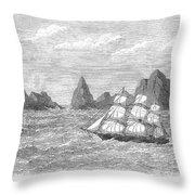 Atlantic: St. Pauls Rocks Throw Pillow