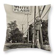 Atlantic White Flash Throw Pillow