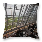 Atlantis Shuttle Liftoff, Viewed Throw Pillow