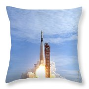 Atlas Agena Target Vehicle Liftoff Throw Pillow