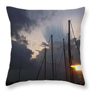 Atmospheric Phenomenon Throw Pillow