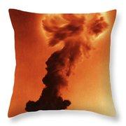 Atomic Bomb Explosion Throw Pillow