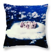 Atomic Bomb Test Cloud Throw Pillow by Science Source