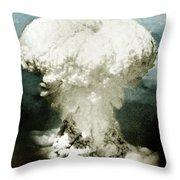 Atomic Bombing Of Nagasaki Throw Pillow