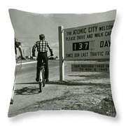 Atomic City Tennessee In The Fifties Throw Pillow
