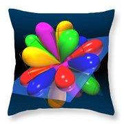 Atomic Orbitals Throw Pillow
