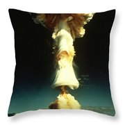 Atomic Testing Throw Pillow