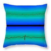 Atrial Flutter & Normal Heart Beat Throw Pillow