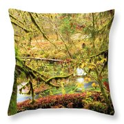 Attack Of The Moss Throw Pillow