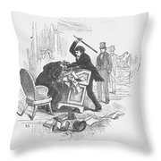 Attack On Sumner, 1856 Throw Pillow by Granger