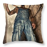 Attitude Throw Pillow by Stelios Kleanthous