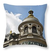 Au Printemps - Paris Throw Pillow