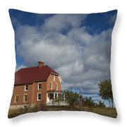 Au Sable Lighthouse 2 Throw Pillow