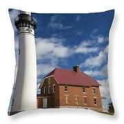 Au Sable Lighthouse 5 Throw Pillow