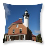 Au Sable Lighthouse 7 Throw Pillow