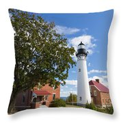 Au Sable Lighthouse 9 Throw Pillow