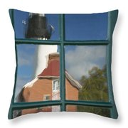 Au Sable Lighthouse Abstract 1 Throw Pillow