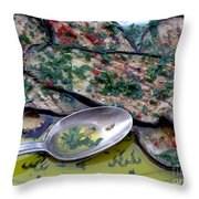 Aubergine In Olive Oil Throw Pillow