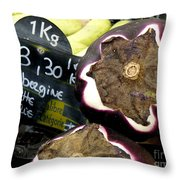 Aubergine Violette Throw Pillow