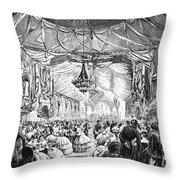 August Belmont (1816-1890) Throw Pillow