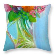 August Bouquet Throw Pillow