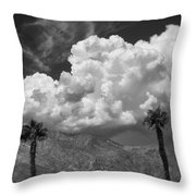 August Clouds Palm Springs Throw Pillow