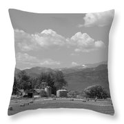 August Hay 75th  St Boulder County Colorado Black And White  Throw Pillow