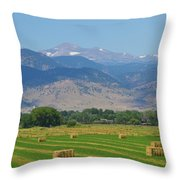 August Hay Boulder County Colorado Throw Pillow
