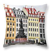 Augustus II The Strong -  A Legend Lives On In Dresden Throw Pillow by Christine Till